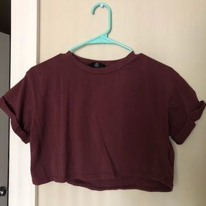 Missguided Burgundy crop top